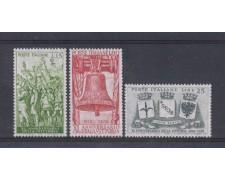 1958 - LOTTO/6340 - REPUBBLICA - ANNIVERSARIO VITTORIA  3v.