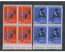 1958 - LOTTO/6343Q - REPUBBLICA - PREMIO ITALIA QUARTINE