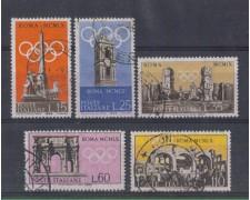 1959 - LOTTO/6351U - REPUBBLICA - PREOLIMPICA 5v. USATI