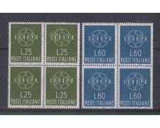 1959 - LOTTO/6356Q - REPUBBLICA - EUROPA 2v. QUARTINE