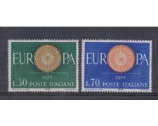 1960 - LOTTO/6362 - REPUBBLICA - EUROPA 2v.