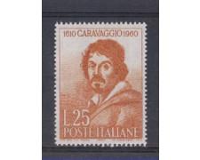 1960 - LOTTO/6363 - REPUBBLICA - CARAVAGGIO 1v.