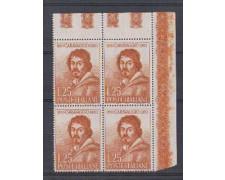 1960 - LOTTO/6363Q - REPUBBLICA - CARAVAGGIO 1v. QUARTINA