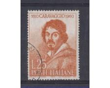 1960 - LOTTO/6363U - REPUBBLICA - CARAVAGGIO 1v. USATO