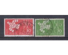 1961 - LOTTO/6396U - REPUBBLICA - EUROPA 2v. USATI