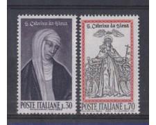 1962 - LOTTO/6401 - REPUBBLICA - SANTA CATERINA 2v.