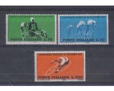 1962 - LOTTO/6403 - REPUBBLICA - MONDIALI DI CICLISMO 3v.