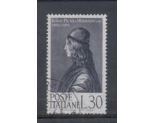 1963 - LOTTO/6410U - REPUBBLICA - PICO DELLA MIRANDOLA USATO