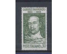 1963 - LOTTO/6411 - REPUBBLICA - GABRIELE D'ANNUNZIO
