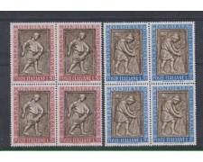 1963 - LOTTO/6412Q - REPUBBLICA - CAMPAGNA FAME QUARTINE