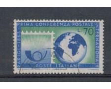 1963 - LOTTO/6415U - REPUBBLICA - CONFERENZA POSTALE USATO