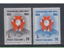 1963 - LOTTO/6416 - REPUBBLICA - CROCE ROSSA 2v.