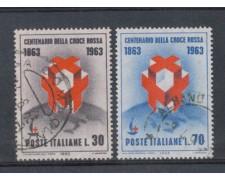 1963 - LOTTO/6416U - REPUBBLICA - CROCE ROSSA USATI