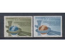 1963 - LOTTO/6417 - REPUBBLICA - CONFERENZA TURISMO 2v.