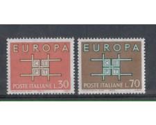 1963 - LOTTO/6418 - REPUBBLICA - EUROPA 2v.