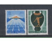 1963 - LOTTO/6419 - REPUBBLICA - GIOCHI DEL MEDITERRANEO