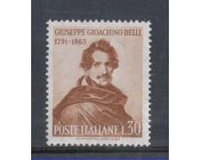 1963 - LOTTO/6421 - REPUBBLICA - GIOACCHINO BELLI