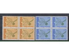 1965 - LOTTO/6441Q - REPUBBLICA - EUROPA 2v. QUARTINE
