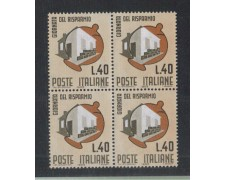 1965 - LOTTO/6443Q - REPUBBLICA - GIORNATA RISPARMIO QUARTINA
