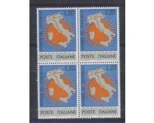 1965 - LOTTO/6445Q - REPUBBLICA - GIORNATA DEL FRANCOBOLLO QUART