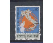 1965 - LOTTO/6445U - REPUBBLICA - GIORNATA DEL FRANCOBOLLO USATO