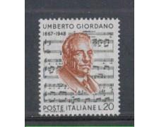 1967 - LOTTO/6472 - REPUBBLICA - UMBERTO GIORDANO