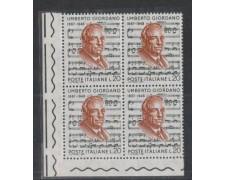 1967 - LOTTO/6472Q - REPUBBLICA - UMBERTO GIORDANO QUARTINA