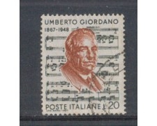 1967 - LOTTO/6472U - REPUBBLICA - UMBERTO GIORDANO USATO