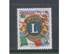1967 - LOTTO/6475 - REPUBBLICA - LIONS CLUB