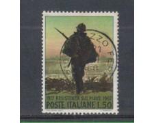 1967 - LOTTO/6476U - REPUBBLICA - RESISTENZA SU PIAVE USATO