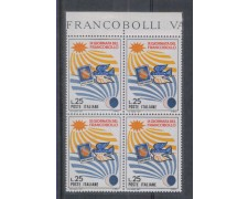 1967 - LOTTO/6479Q - REPUBBLICA - G. FRANCOBOLLO QUARTINA