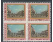 1968 - LOTTO/6508Q - REPUBBLICA - IL CANALETTO QUARTINA