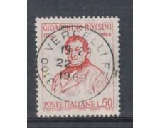 1968 - LOTTO/6509U - REPUBBLICA - G.ROSSINI  USATO