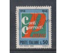 1968 - LOTTO/6511U - REPUBBLICA - CONTI CORRENTI USATO