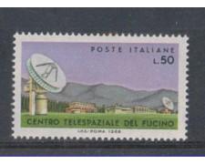 1968 - LOTTO/6512 - REPUBBLICA - CENTRO SPAZIALE FUCINO