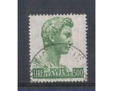 1969 - LOTTO/6515U - REPUBBLICA - 500 L. SAN GIORGIO USATO