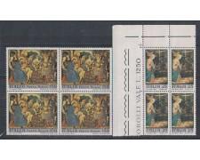 1970 - LOTTO/6537Q - REPUBBLICA - NATALE QUARTINE