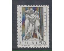1972 - LOTTO/6563 - REPUBBLICA - ANTONIO CANOVA