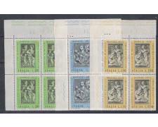 1973 - LOTTO/6590Q - REPUBBLICA - NATALE  QUARTINE