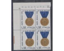 1973 - LOTTO/6593Q - REPUBBLICA - MEDAGLIE AL VALORE QUARTINA