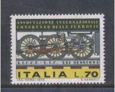 1975 - LOTTO/6632 - REPUBBLICA - CONGRESSO FERROVIE