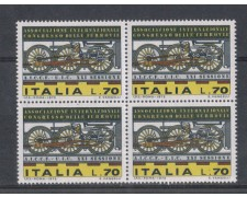 1975 - LOTTO/6632Q - REPUBBLICA - CONGRESSO FERROVIE - QUARTINA
