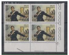 1975 - LOTTO/6633Q - REPUBBLICA - SALVO D'ACQUISTO - QUARTINA