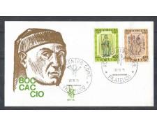 1975 - LOTTO/6639ZA - REPUBBLICA - GIOVANNI BOCCACCIO - FDC