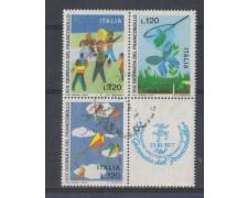 1977 - LOTTO/6667UB - REPUBBLICA - GIORNATA FRANCOBOLLO - BLOCCO