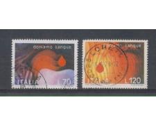 1977 - LOTTO/6668U - REPUBBLICA - DONATORI SANGUE - USATI