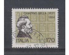 1977 - LOTTO/6669U - REPUBBLICA - QUINTINO SELLA - USATO