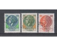 1977 - LOTTO/6670U - REPUBBLICA - SIRACUSANA 3v. - USATI