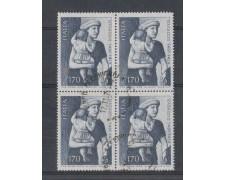 1978 - LOTTO/6685UQ - REPUBBLICA - MASACCIO - QUARTINA/USATA