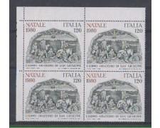 1980 - LOTTO/6731Q - REPUBBLICA - NATALE - QUARTINA